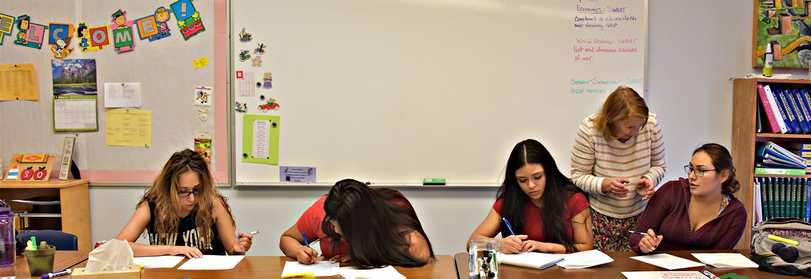 We provide all the classes needed to complete an Arizona high school diploma.